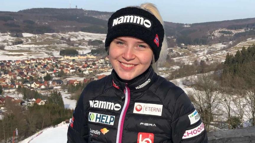 Frida Berger piątą Norweżką w składzie naMŚ